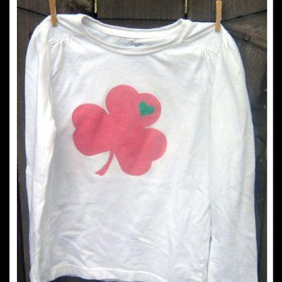 Painted Shamrock Shirts