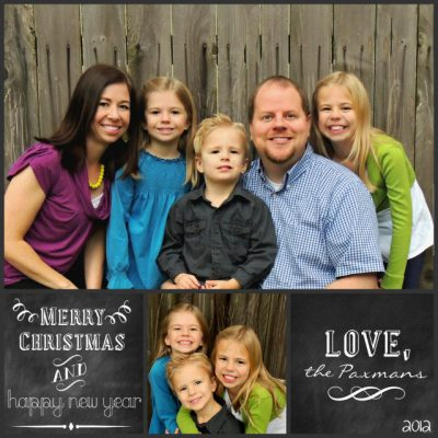 Merry Christmas–Our 2012 Card