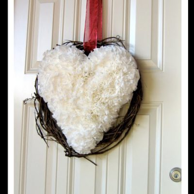 Coffee Filter Heart Wreath