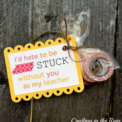 Washi Tape Teacher Gift (with Printable Tag)