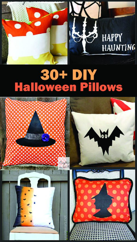 DIY Halloween pillows