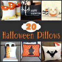 Halloween pillow tutorials