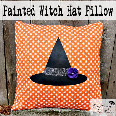 Witch Hat Halloween Pillow