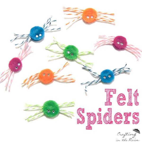 diy felt spiders