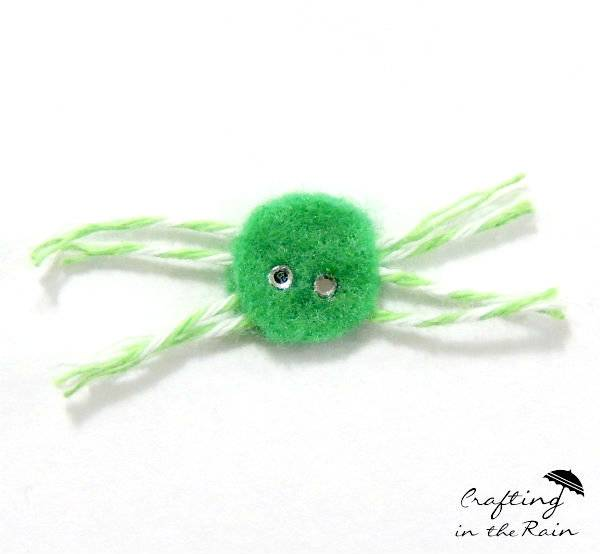 colorful felt spider