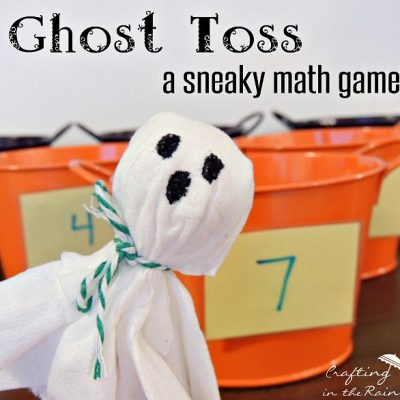 Ghost Toss Halloween Math Game