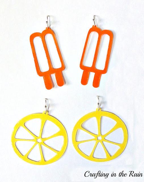 summer earrings svg