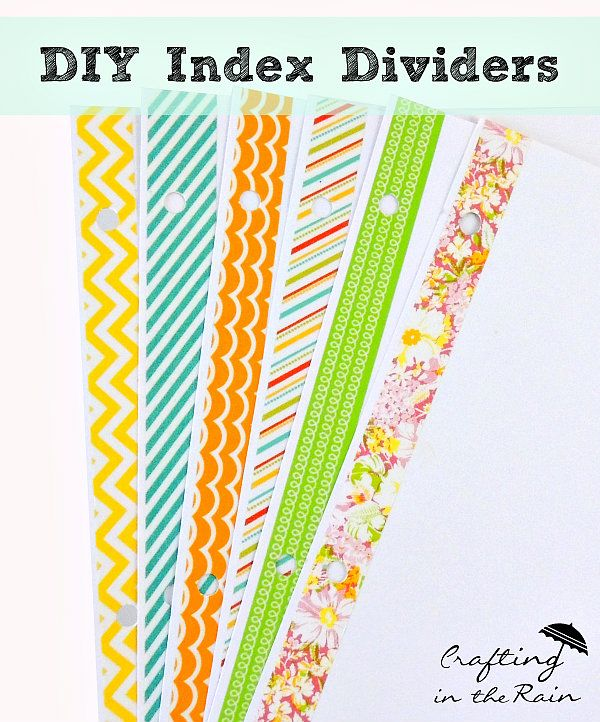 DIY index dividers