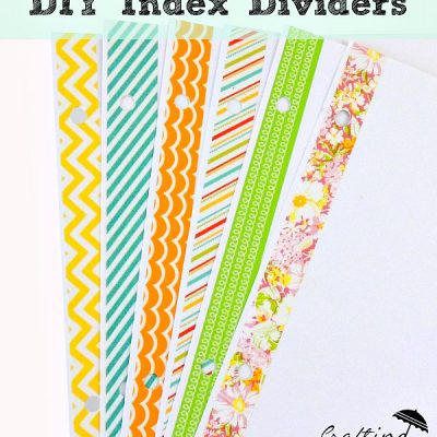 Cute DIY Index Dividers with Washi Tape