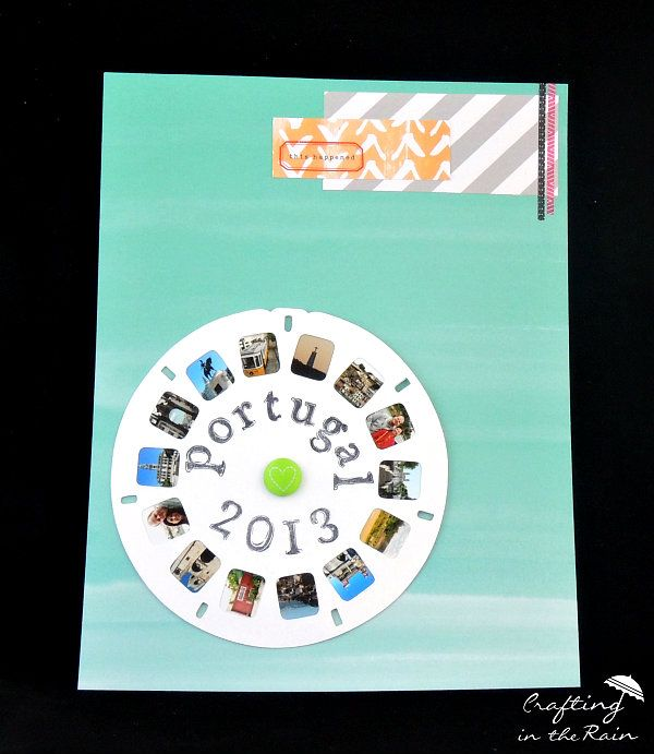 view finder scrapbook page