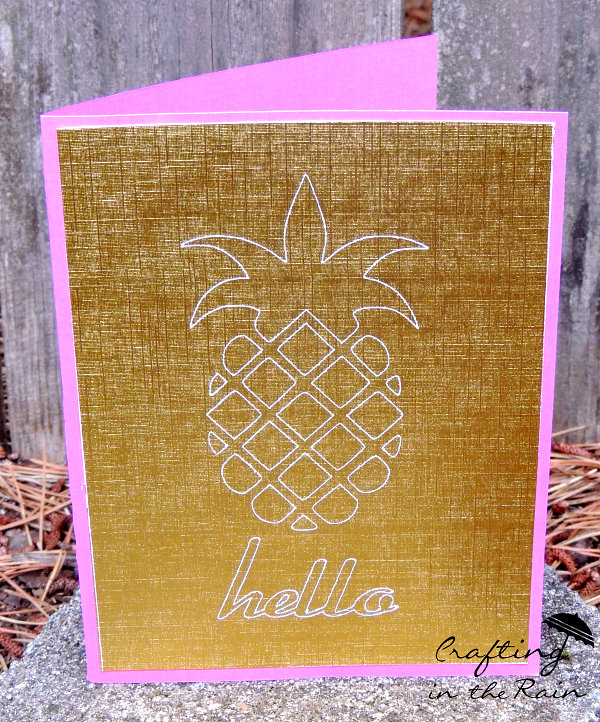 etched pineapple card