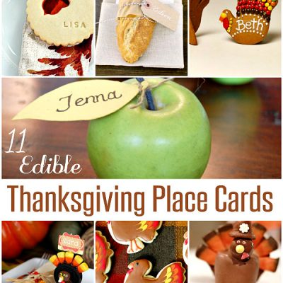Edible Thanksgiving Place Cards
