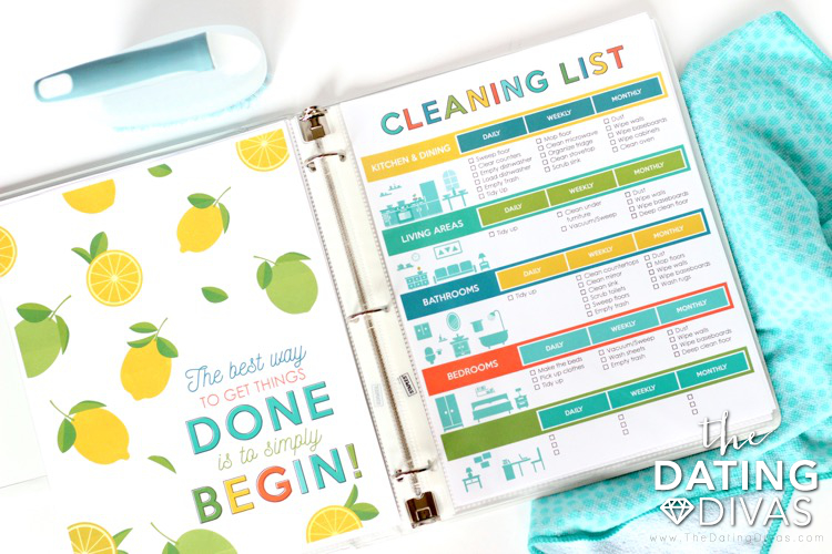 daily cleaning list