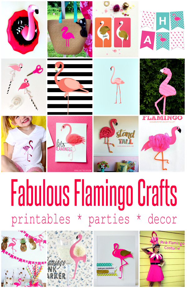 Cute Flamingo Crafts And Projects Crafting In The Rain