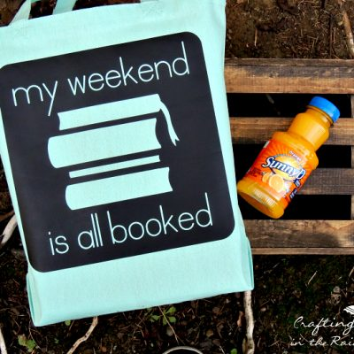 My Weekend is All Booked DIY Book Tote
