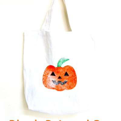 Block Printed Halloween Bag … an XCarve Project