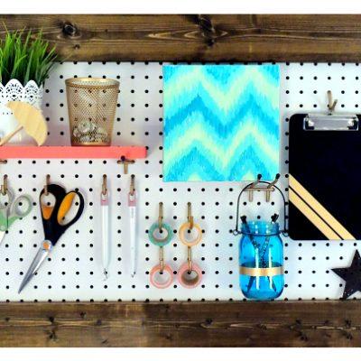 Framed Pegboard for Craft Room Organization