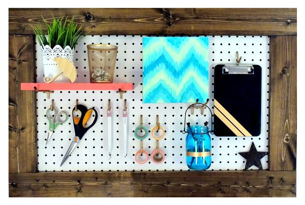 Framed Pegboard For Craft Room Organization Crafting In