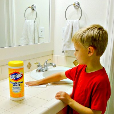 Get Kids to Clean the Bathroom