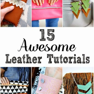 15 DIY Leather Projects