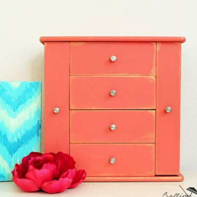 Coral Painted Jewelry Box