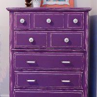 purple dresser makeover