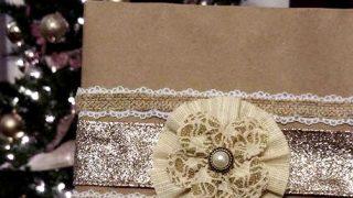 Glitter Flower Gift Toppers
