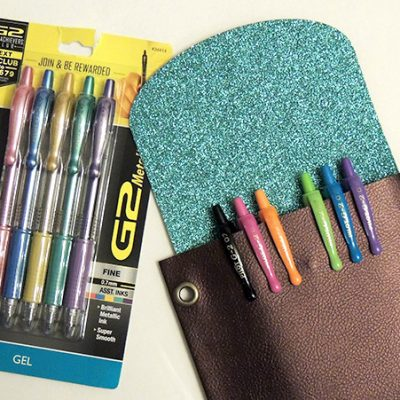 DIY Pencil Pouch (no zipper) and Pilot G2 Pens