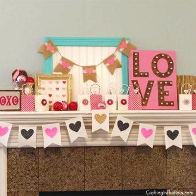 Valentine Heart Banner