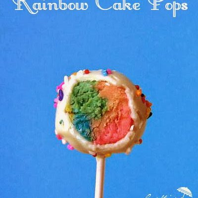 Rainbow Cake Pops…and Happy St. Patrick's Day!