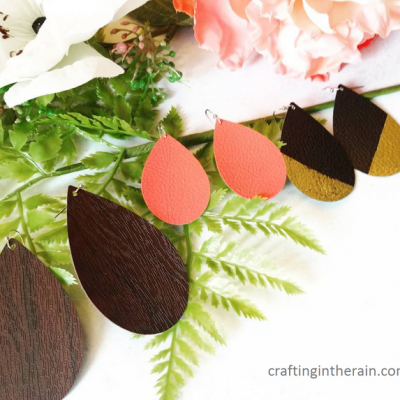 DIY Leather Earrings with Cricut