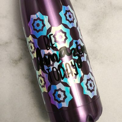 Vinyl Decorated Water Bottle