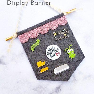 DIY Flair Pin Display Banner