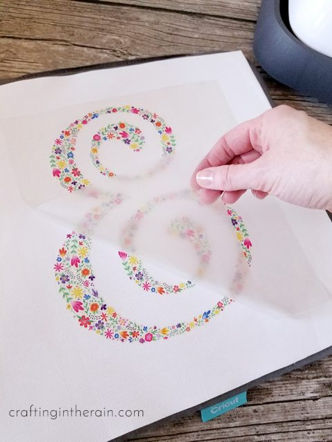 Reverse Canvas with Cricut Iron-On Designs - Crafting in the