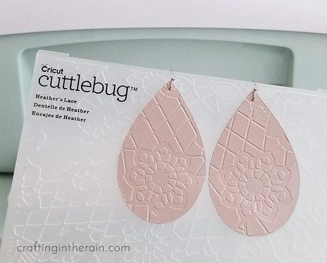 Make Cricut leather earrings