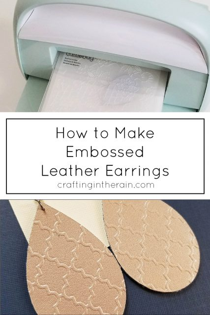 Emboss leather with Cuttlebug