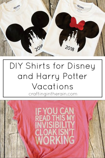 Diy Shirts For Disney And Harry Potter Crafting In The Rain