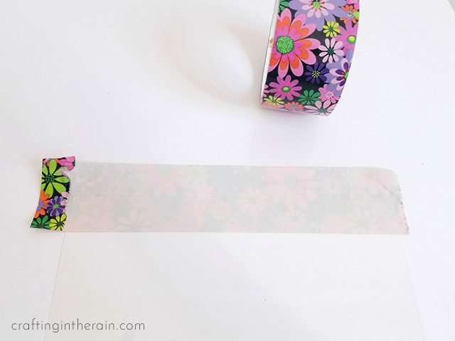 Duck tape pencil pouch