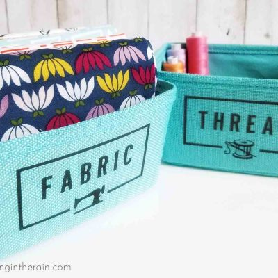 Sewing Room Organizer Labels with Iron-On