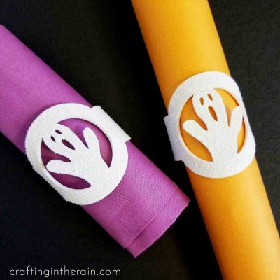Ghost Napkin Rings with Cricut Foam