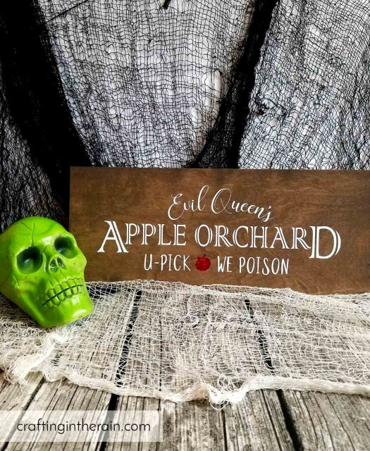 how to make a halloween wood sign