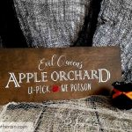 Halloween SVG Queen's Apple Orchard Sign