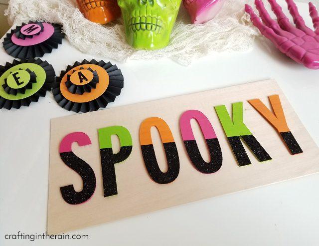 spooky sign for halloween decor