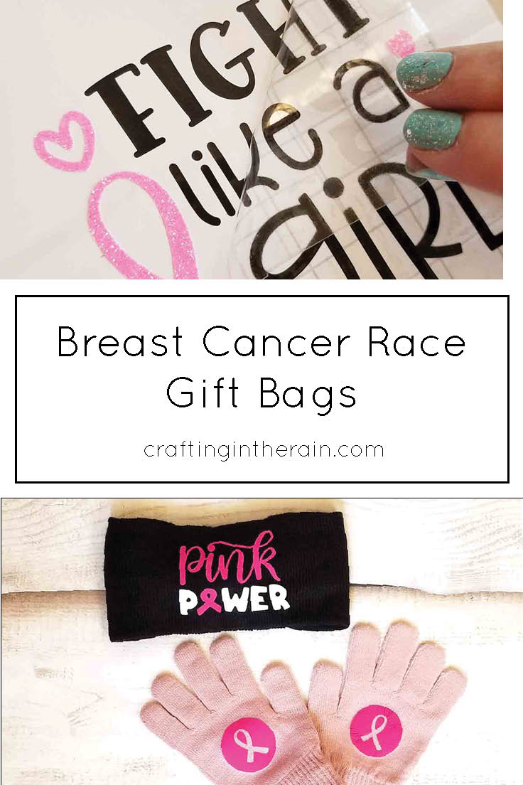 breast cancer race gift bags