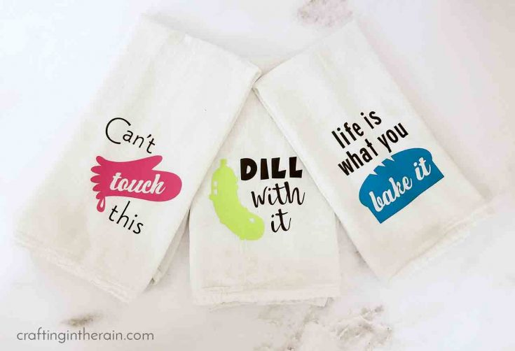 Funny kitchen towels, funny puns