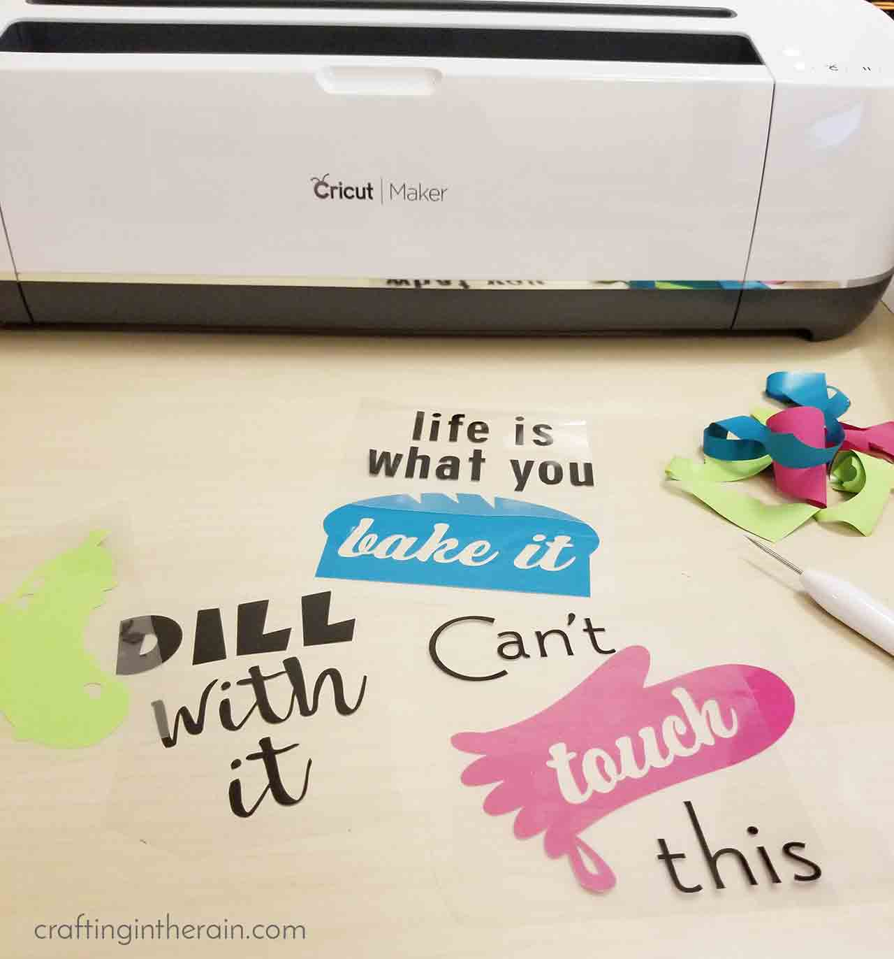 Cute Kitchen Towels Gift Set With Iron On Vinyl Crafting In The Rain