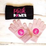Breast Cancer Run Gift Bags with Cricut