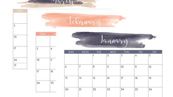 Free 2020 Printable Calendars Crafting In The Rain
