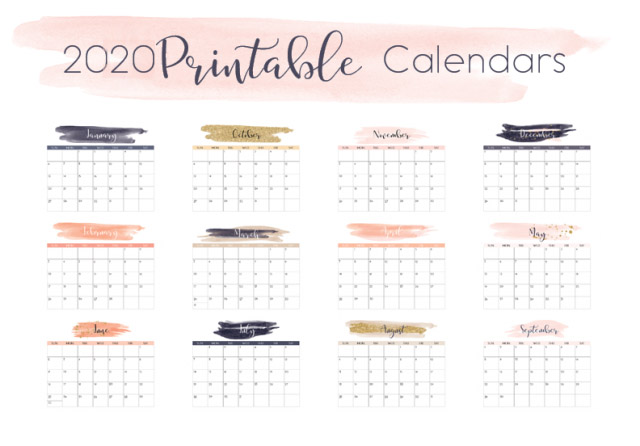 2020 navy printable calendar