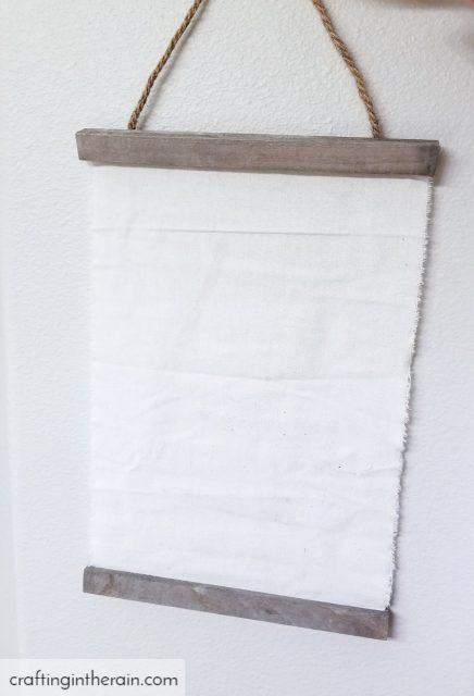 Blank fabric sign
